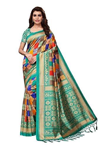 Indian bollywood wedding saree indisch Ethnic hochzeit sari new kleid damen casual tuch birthday crop top mädchen women plain traditional party wear readymade Kostüm (green round)