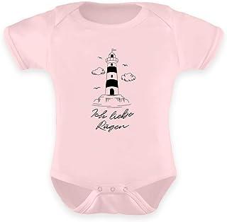 Generisch Ich Liebe Rügen Leuchtturm Insel Ostsee Insulaner Strampler Urlaubserinnerung - Baby Body