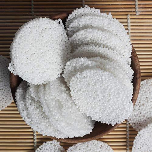 Organic Grocery Sabudana Papad Plain-400g (Gluten-Free & Upwas-Friendly Tapioca Papads)