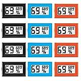 Best Hygrometers - 12 Pack Mini Digital Electronic Temperature Humidity Meters Review