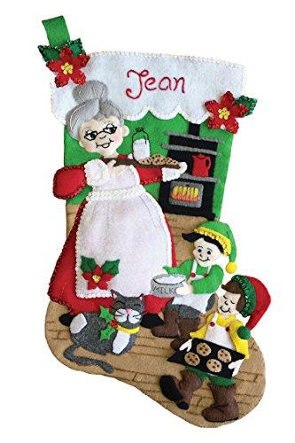 Mrs Claus 18' Felt Christmas Stocking Kit
