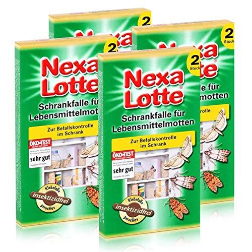 4 x 2 (8 Stk.) Nexa Lotte Schrankfalle für Lebensmittelmotten, insektizidfrei!