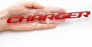 CARRUN 3D CHARGER Emblem OEM Letters Stickers Badges Decal for Dodge Charger Chrysler Mopar Finish (Red)