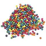 TRIXES 500 Cuentas de 7 mm de Madera en Colores Mezclados para Joyería...