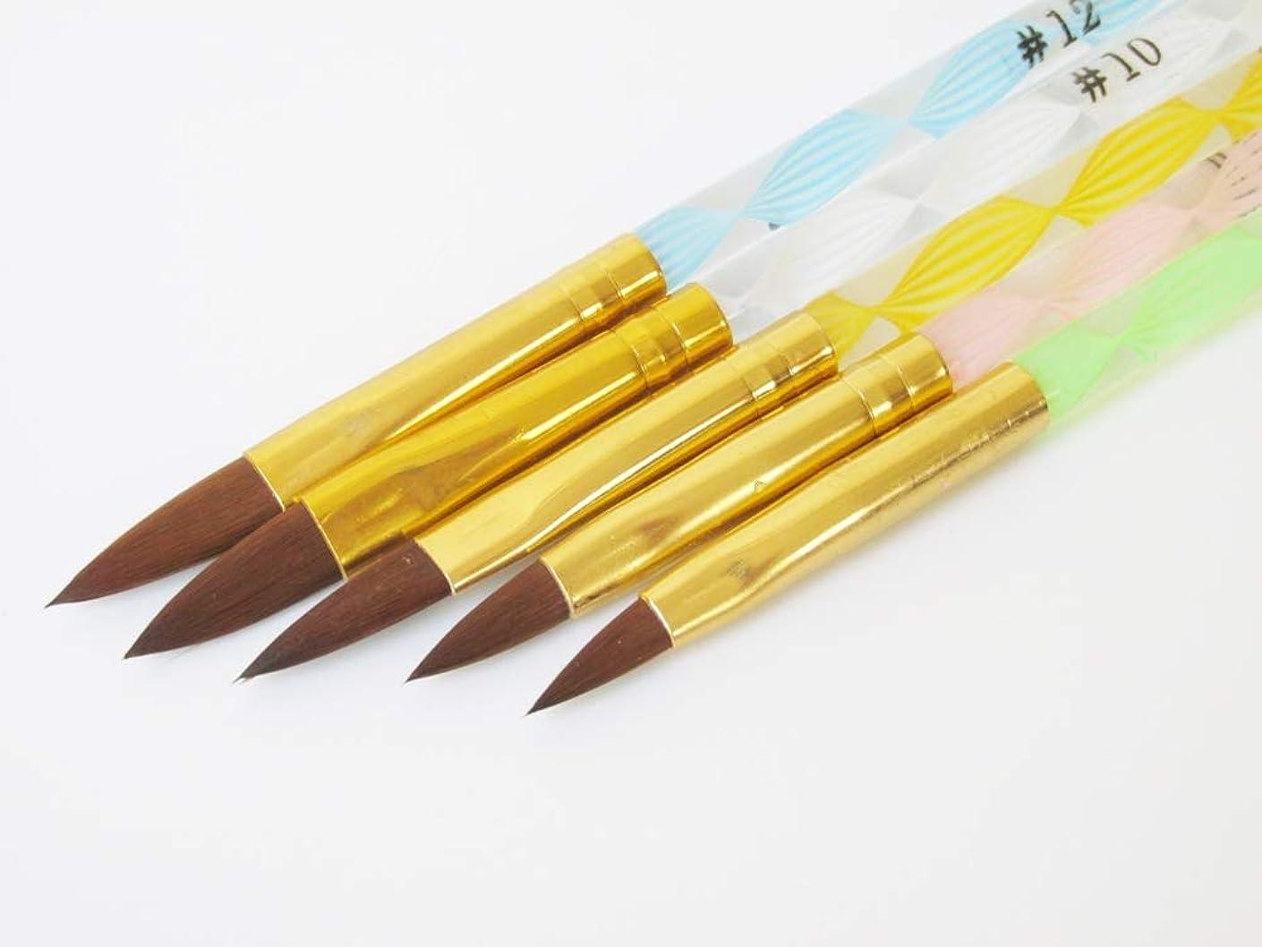 メールを書く棚エンディングRant Bell スカルプ ブラシ セットアクリル 3D ネイル オーバル筆 青 緑 ピンク 黄色 白 5本セット