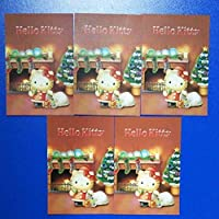 限定 ハローキティ クリスマスカード 5枚セット