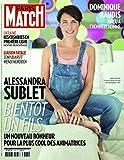 Paris Match n° 3387 du 16 Avril 2014 - Alessandra Sublet (couv?), Marc Levy à New York (3p), Alain Finkielkraut (1p), Miossec (1p), Depardieu et Patrick Deweare (6p), Julien Doré (6p)