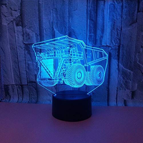 New Type of Construction car Light Remote Touch Control Gift Night Light 3D LED Small Table lamp USB Interface Touch Remote Control Light Colorful Night Light