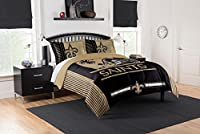 """Officially Licensed NFL New Orleans Saints """"Safety"""" King Comforter and 2 Sham Set, 102"""" x 86"""""""