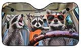OK Cars AZ-SAA-043 Parasole Auto, Protezione Solare per Parabrezza con Motivo Orsetto lavatore, 130x70cm