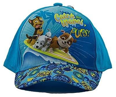 Paw Patrol Gorra, gorra de béisbol, gorra para niños, niñas y niños, 100% algodón con velcro ajustable (54, Turquesa) de