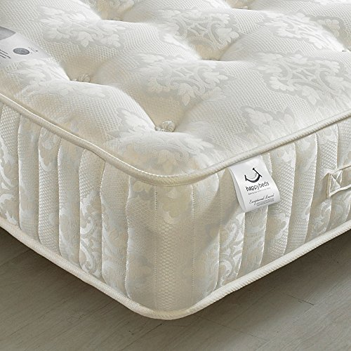 Orthopaedic 1200 Pocket Sprung, Happy Beds Berrington Medium Tension Mattress with Natural Fillings - 4ft6 Double (135 x 190 cm)