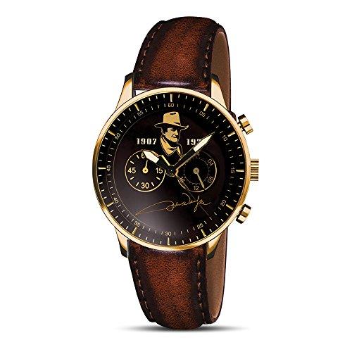 The Bradford Exchange John Wayne Chronograph - Men's Watch - Golden Image -...