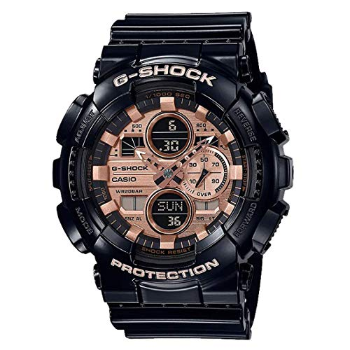 カシオ G-Shock GA140GB-1A2 腕時計 アナログ デジタル ローズゴールド 文字盤 ブラック 樹脂 ベルト
