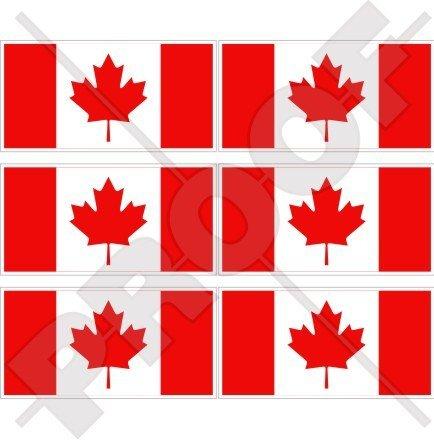 Canada Drapeau Canada Feuille d'érable 40 mm (40,6 cm) Téléphone Mobile Mini en vinyle autocollants, Stickers x6