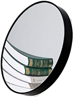 FYSL 1Pcs Espejo de aumento de 10 aumentos con 2 ventosas,Espejo de Aumento Redondo Utilizado para maquillaje, afeitado, eliminación de puntos negros / manchas (negro)