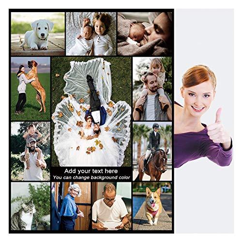 Haisimiery - Manta personalizable con imagen para adultos y mascotas, franela, diseño de foto de cumpleaños, boda, Forro polar de franela., Tu foto personalizada, Throw 50×60 (120x150cm)