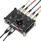 3.5mm 双方向 オーディオ/マイク/ヘッドセット/スピーカー MIC スイッチャーハブ ボリュームコントロールセレクタ