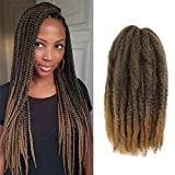 Ago Cuban Twist Hair 16inch Marley Twists Hair 6packs For Faux Locs Corchet Hair Braids Colorful Havana Twists Hair Afro Kinky Marley Crochet Braiding Hair Extension (16inch, 1B-27)