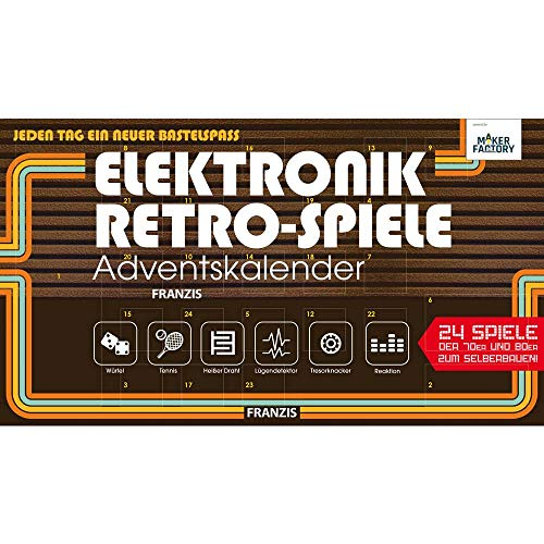 MAKERFACTORY Elektronik Retro-Spiele Adventskalender