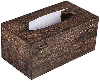 ティッシュケース ティッシュボックス ティッシュ収納ケース 木製 木目調 復古 家庭 ホテル レストラン 卓上車 ティッシュ 収納 22cm*12cm*10cm