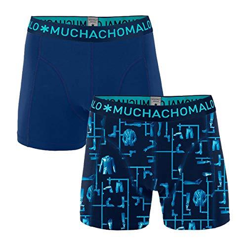 Muchachomalo boxershort voor heren, verpakking van 2 stuks, set van 2 stuks, blauw