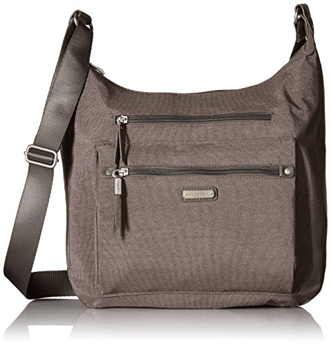 Baggallini Day Trip Hobo with RFID Phone Wristlet, Sterling Shimmer