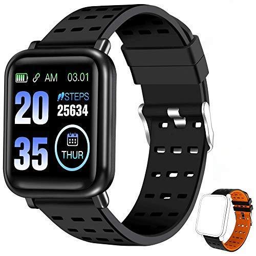 ANCwear Smartwatch, Fitness Armband mit Pulsmesser, Aktivitätstracker Touch Screen Fitness Uhr Wasserdicht, Fitness Tracker Sportuhr mit Schrittzähler für Damen Herren für iPhone Android Handy