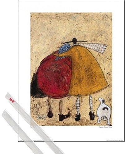 1art1 Sam Toft Kunstdruck (40x30 cm) Umarmung Auf Dem Heimweg Inklusive EIN Paar Posterleisten, Transparent