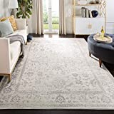 Safavieh Adirondack Collection ADR109C Ivory/Silver Vintage Oriental Distressed Area Rug...