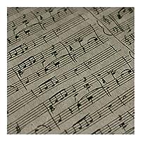 Bu 1PCSレトロヴィンテージ音符シリーズ布、印刷パッチワークコットンリネン生地、メーター-by DIY手作りの縫製工芸/スクラップブッキング/ホームテキスタイル (Size : 100x145cm)
