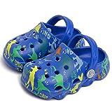 Mictchz Kids Boys Girls Dinosaur Clogs Unisex-Child Garden Clogs Lightweight Beach Pool Shower Slides Sandals Toddler Kids Slippers Water Shoes Navy