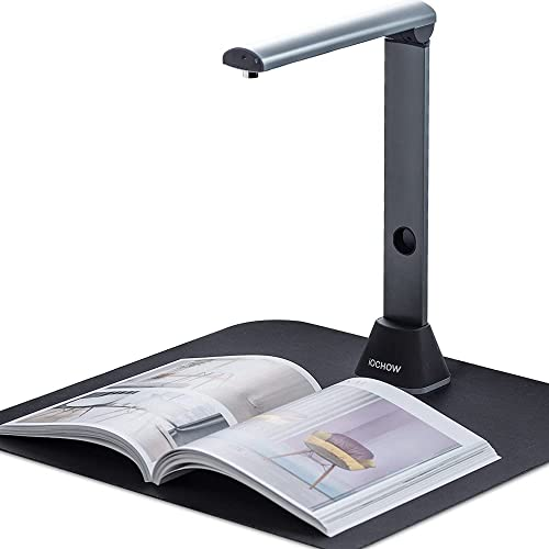 iOCHOW S3 Book Scanner & Document Camera: 17 MP High Resolution Flatten-Curve Capture A3 Size & Video Recording Dual ...