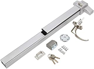 IRONWALLS Door Push Bar with Exterior Lever Lock Emergency Panic Exit Device Door Hardware Stainless Steel Commercial