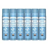 Dr. Bronner's - Organic Lip Balm (.15 ounce, 6-Pack) - Unscented, Made...