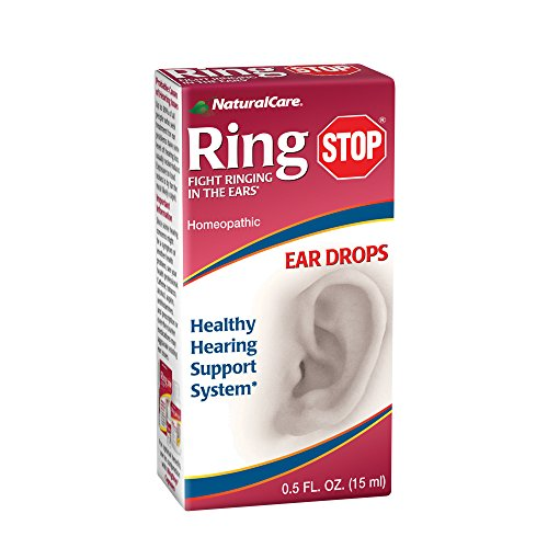 NaturalCare RingStop | Ringing in the Ear Aid | Homeopathic Support For Tinnitus Relief, Ear Noise & Sensitivity to Sound | 0.5 oz