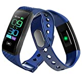 QUMOX Smartband Blood Pressure Heart Rate Monitor Pedometer Fitness Tracker Blue