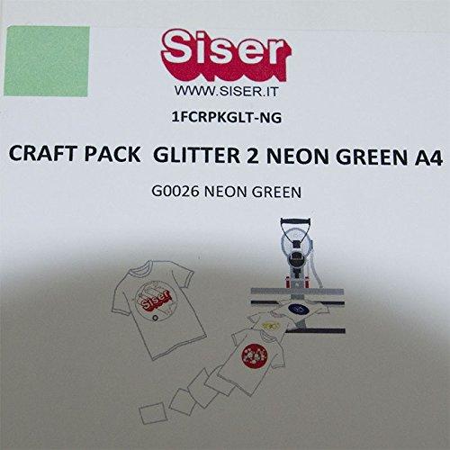 Flex Camiseta de textil pantalla para plotter 5 unidades DIN A4 – Glitter Neon Green – siser G0026: Amazon.es: Jardín