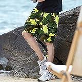 Summer Camo Men Cargo Shorts New Board Shorts Hombres Pantalones Cortos Cómodo Hombres Cool Camuflaje Algodón Casual 4XL FK167Yellow
