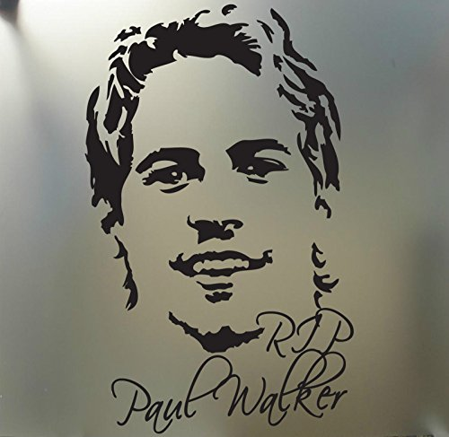 RIP Paul Walker Fast and Furious Euro Drift Racing Sticker Gezicht Portret, Roze, Die Cut Vinyl Decal voor Windows, Auto's, Vrachtwagens, Gereedschapskisten, laptops, MacBook - vrijwel Elke Harde, Glad Oppervlak