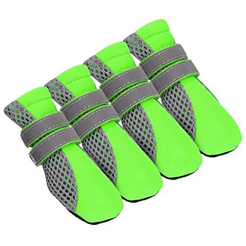 Feidaeu Hundeschuhe Reflektierende Anti Slip Katzen Pet Schuhe Socken Sneaker Pfotenschutz für Chihuahua Yorkshire Welpen Stiefel