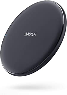 Anker Fast Wireless Charger, 10W Wireless Charging Pad, Qi-Certified, Compatible iPhone Xs Max/XR/XS/X/8/8 Plus, 10W Fast-Charging Galaxy S9/S9+/S8/S8+/Note 9 and More, PowerWave Pad(No AC Adapter)