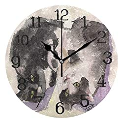 Ernest Congreve Wall Clock Hawaii Palm TreeSilent Non Ticking Decorative Square Digital Clocks Quartz Battery Operated Square Easy to Read for Home/Office/School Clock 10 inch