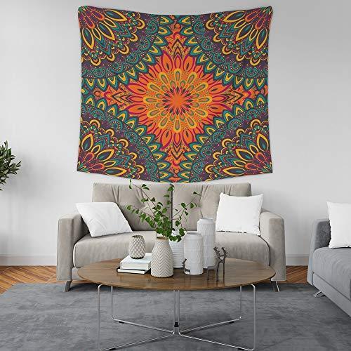 KHKJ Tapiz de Mandala Indio, Manta de Tela, Alfombra, decoración de Pared, decoración de habitación Colgante, Revestimiento de Paredes, Dormitorio A10, 200x180cm