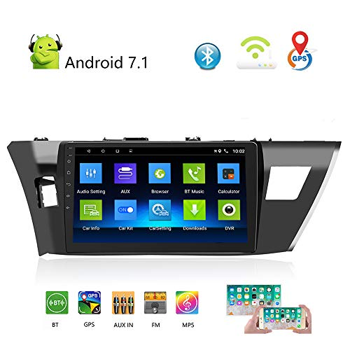 Podofo Autoradio für Toyota 14 Corolla (GL) 10,1 Zoll Touchscreen GPS Navigation WiFi Bluetooth Auto DVD Player für Toyota 14 Corolla 2014–2016