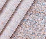 0,5m Sweat Stoff Konfetti Sweat - orange/türkis