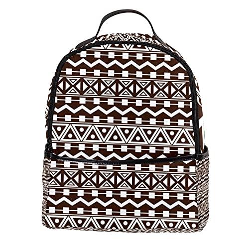 ATOMO Mini mochila casual geométrica indio patrón PU cuero viajes compras bolsas Daypacks