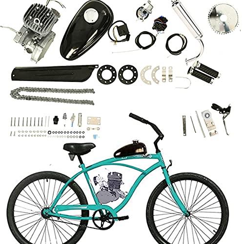 80 cc 2 Stroke Gas Petrol Motorized Bike Bicycle Engine Motor Kit, 3HP Motor Engine for Modified Bicycle, DIY Petrol Gas Engine Bicycle Motor Kit Set for Modified 24' 26' 28' Bikes (Single Cylinder)