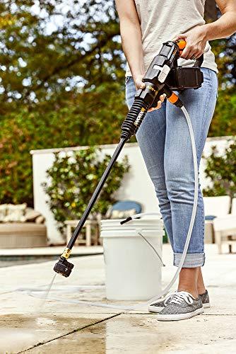 WORX WG644 40V Power Share Hydroshot Portable Power Cleaner (2x20V Batteries), Black and Orange