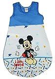 Disney Baby - Saco de dormir de verano sin mangas para niño, talla 56, 62, 68, 74, 80, 86, 92, 98, 104, 110, DÜNN, no forrado, 100% algodón, diseño de Mickey Mouse Modelo 1 92/98 cm